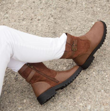 Botines mujer marrón